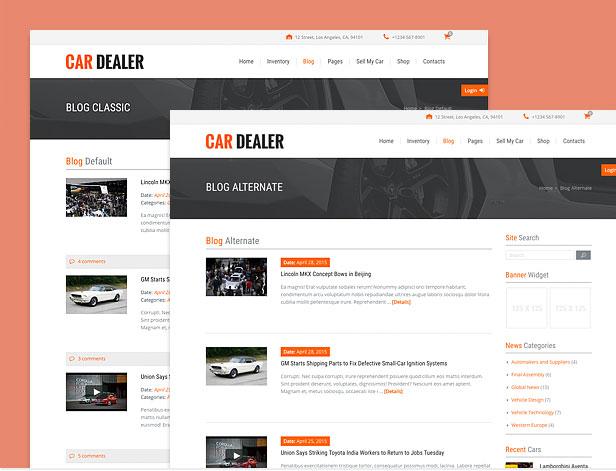 different automotive blog styles