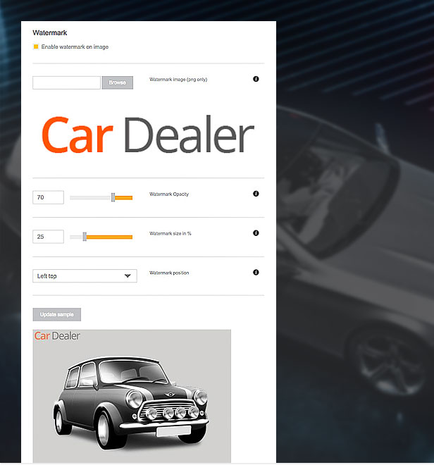 wordpress car template image branding