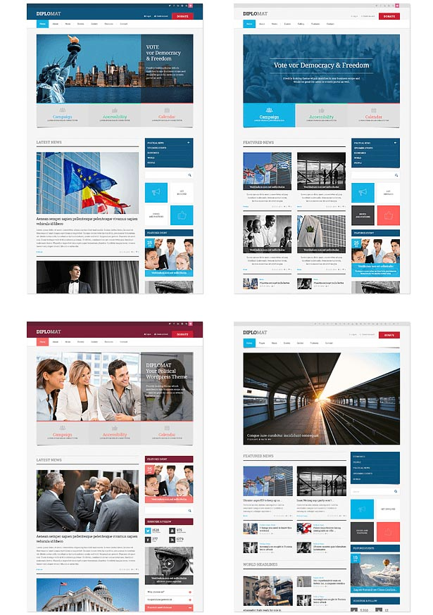 political party wordpress theme demo