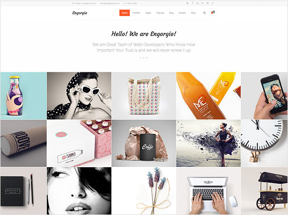 web agency template gallery