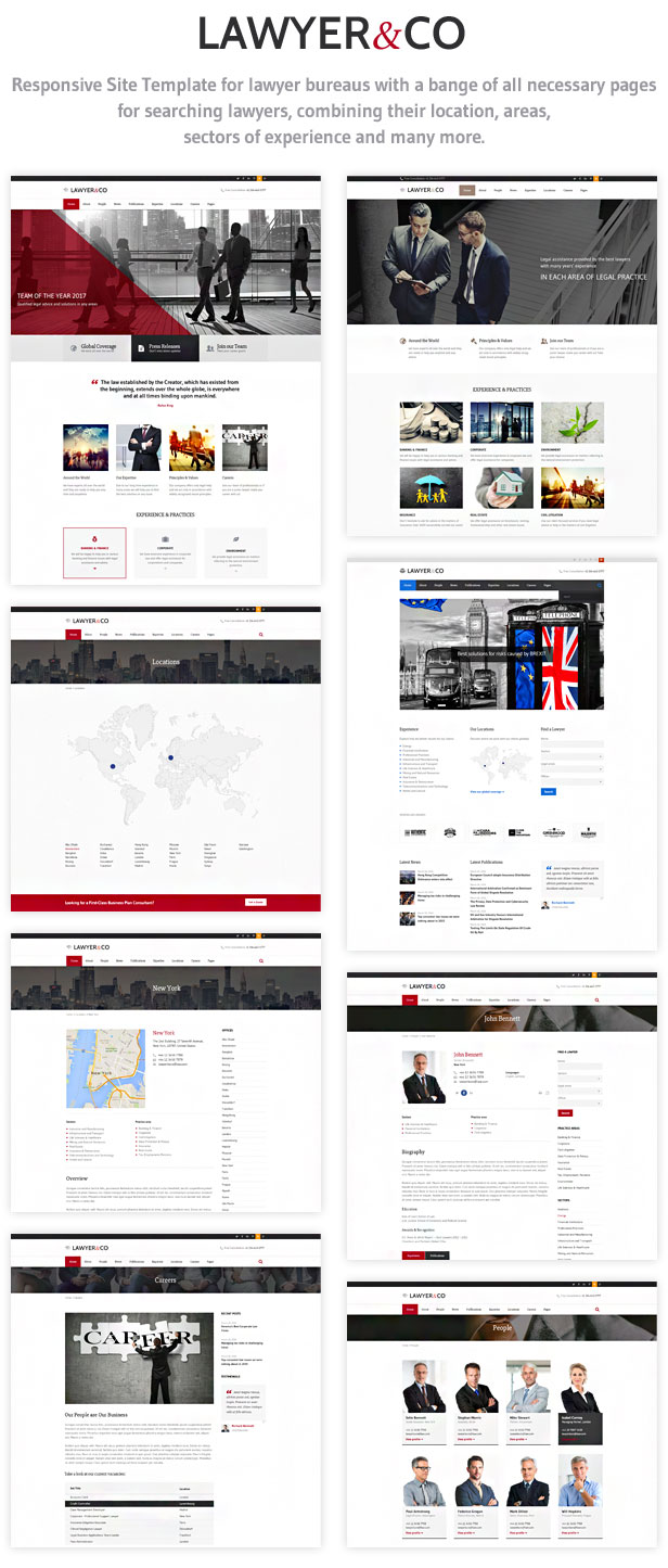 law firm site template